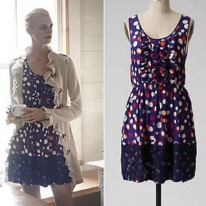 🌷Moulinette Soeurs Silk Color Drenched Dot Dress